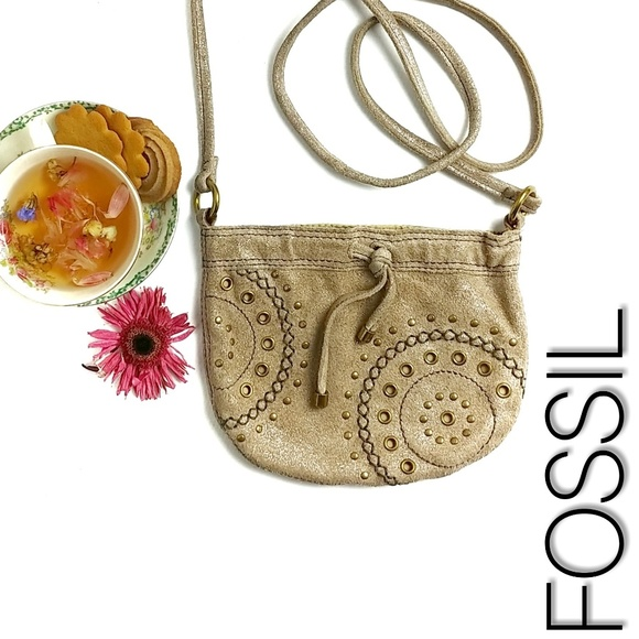 Fossil Handbags - Fossil Leather Crossbody Bag Purse Boho Festival